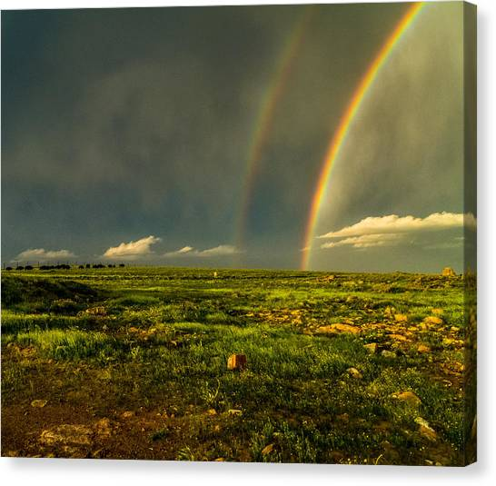 Double Rainbow Canvas Print by Craig Brown
