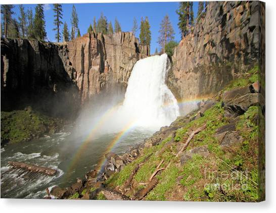 Double Rainbow Falls Canvas Print