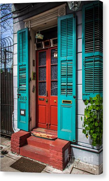 Double Red Door Canvas Print