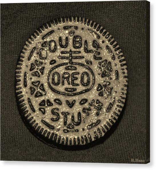 Double Stuff Oreo In Sepia Negitive Canvas Print