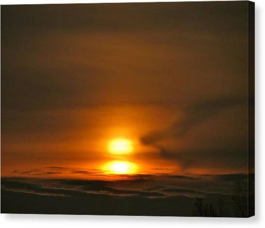 Double Sunrise Canvas Print