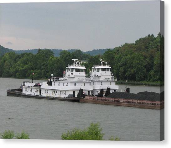 Ohio Valley Canvas Print - Double Tow by Willy  Nelson