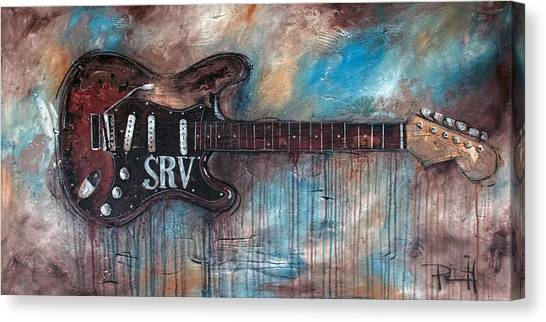 Stratocasters Canvas Print - Double Trouble by Sean Parnell