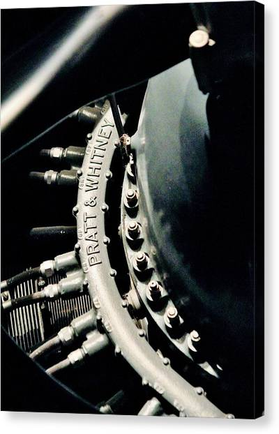 Prop Planes Canvas Print - Double Wasp by Benjamin Yeager
