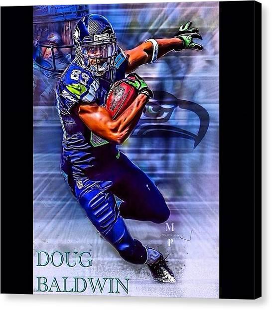 Seattle Seahawks Canvas Print - Doug Baldwin Edit! New Skin Leave by Matt Pollock