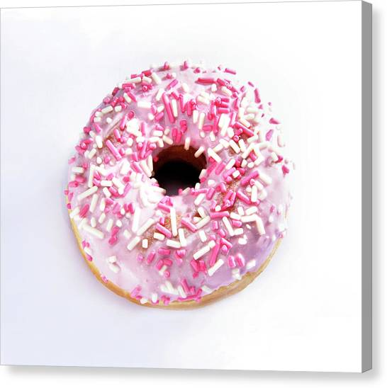 Doughnuts Canvas Print - Doughnut by Cordelia Molloy/science Photo Library