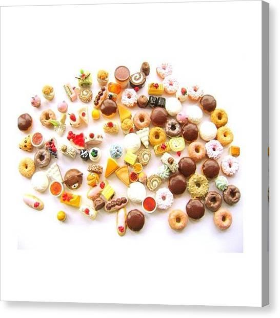 Doughnuts Canvas Print - Doughnuts & Chocolates @etsy Cabochons by Futoshi Takami