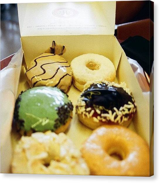 Doughnuts Canvas Print - #doughnuts #instabituk #foodporn #dmii by Francis Marigomen