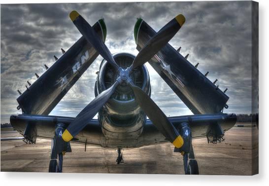 Douglas A1- E Skyraider Canvas Print