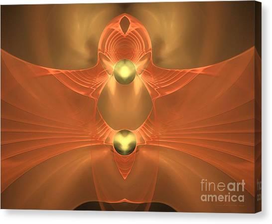 Dove In Love - Surrealism Canvas Print