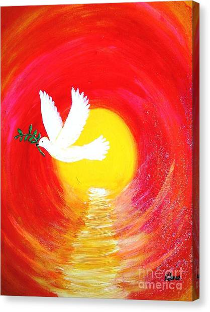 Dove Of Peace Canvas Print