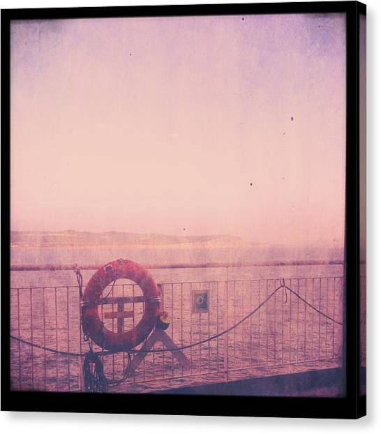Wet Canvas Print - Dover Ferry by Candace Fowler