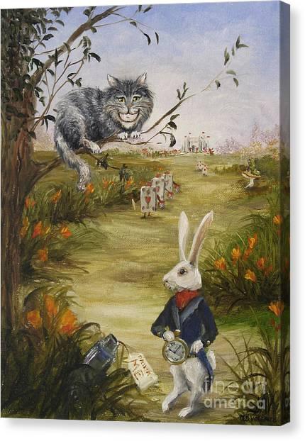 Down A Rabbit Hole Canvas Print by Stella Violano