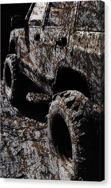 Offroading Canvas Print - Down And Dirty by Luke Moore