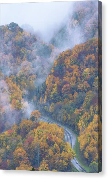 Highways Canvas Print - Down Below by Chad Dutson