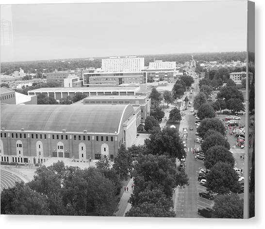 University Of Nebraska Canvas Print - Down Memory Lane by Caryl J Bohn