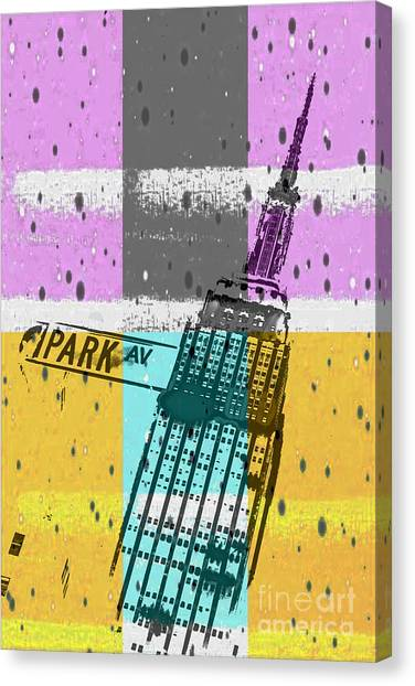 Street Signs Canvas Print - Down Park Av by Az Jackson