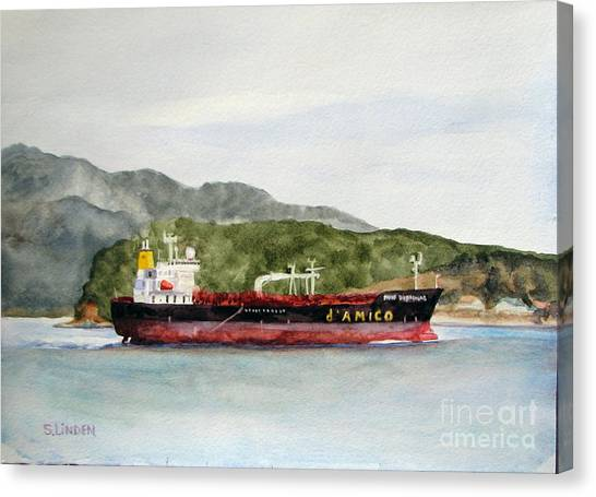 Down The Guemes Channel San Juan Islands Wa Canvas Print