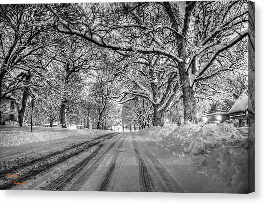 Down The Lane Canvas Print by Dan Crosby
