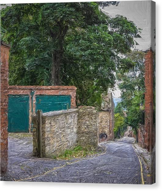 Down The Lane Canvas Print by Zen Williston