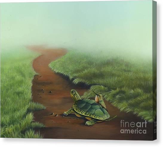 Down The Path Canvas Print