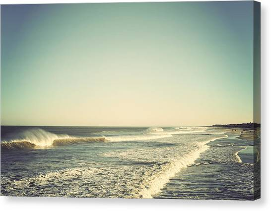 Down The Shore - Seaside Heights Jersey Shore Vintage Canvas Print