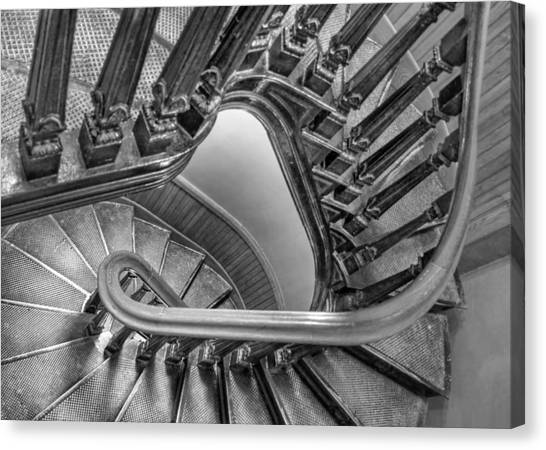 Fibonacci Canvas Print - Down The Side - Bw by Nikolyn McDonald