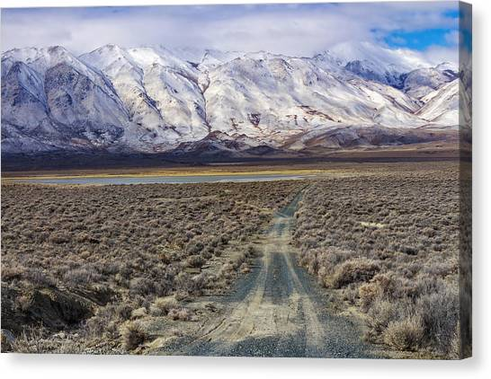 Black Rock Desert Canvas Print - Down To The Playa by Kathleen Bishop