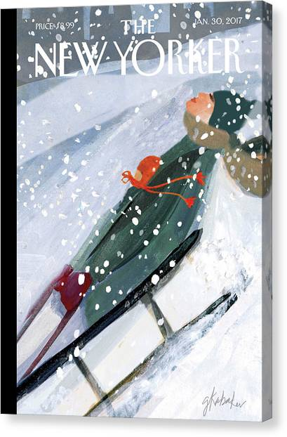 Downhill Racers Canvas Print