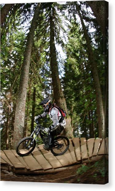 Offroading Canvas Print - Downhillrider Tobbe Johansson Riding by Patrik Lindqvist