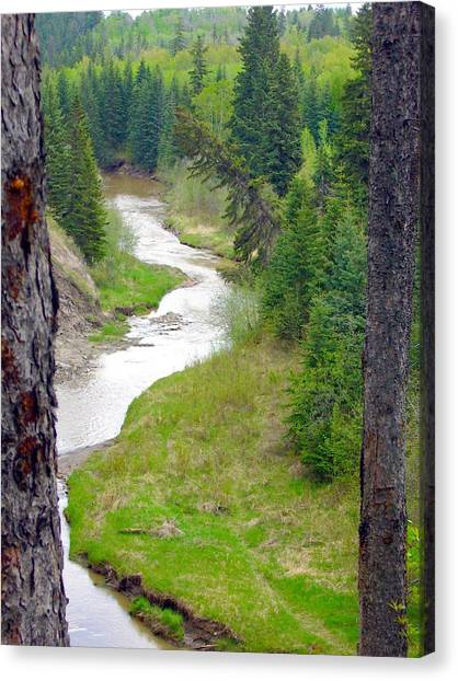 Downriver Canvas Print