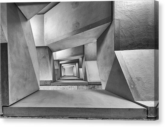Tunnels Canvas Print - Downstairs by Guy Goetzinger