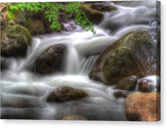 Downstream Flow Canvas Print by Barry Jones