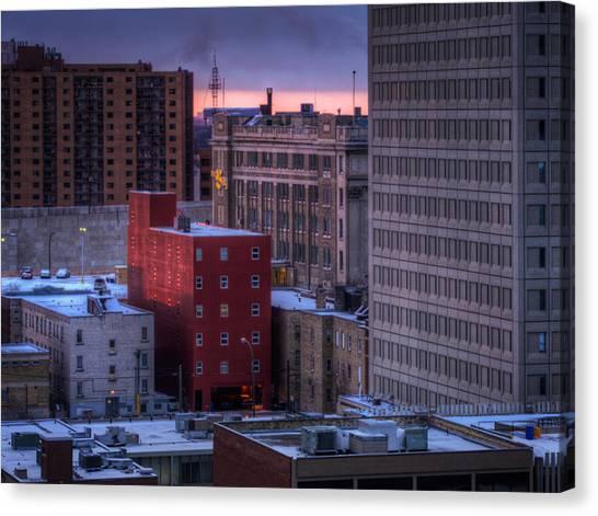 Manitoba Canvas Print - Downtown by Bryan Scott