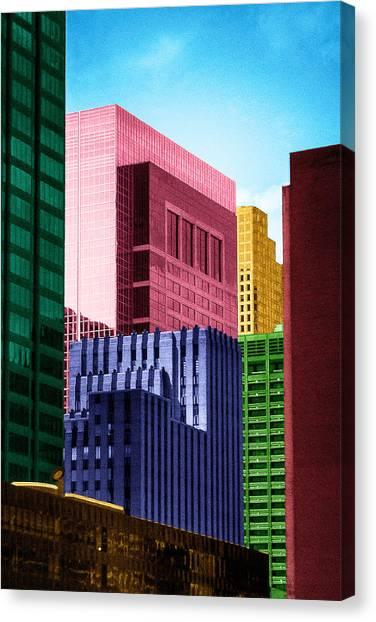 Downtown Building Blocks Canvas Print