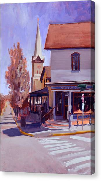 Downtown Cedarburg Canvas Print by Anthony Sell