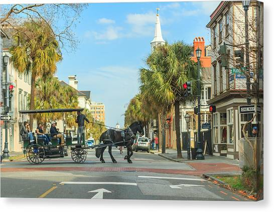 Downtown Charleston Stroll Canvas Print