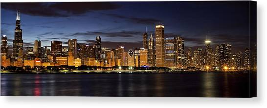 Chicago Skyline Canvas Print - Downtown Chicago Panorama by Andrew Soundarajan