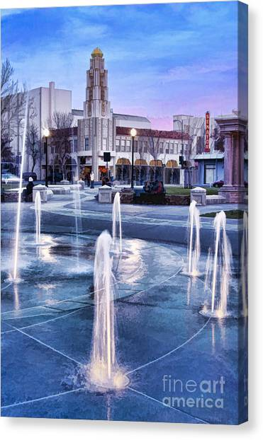Downtown City Plaza Chico California Canvas Print