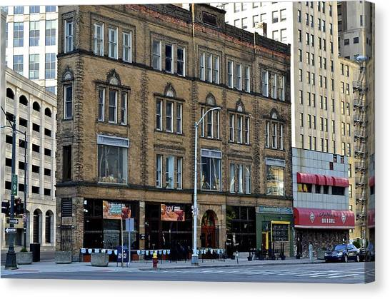 Ty Cobb Canvas Print - Downtown Detroit by Frozen in Time Fine Art Photography