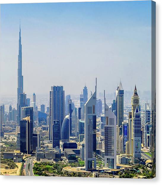 Downtown Dubai Canvas Print by Joseph Plotz