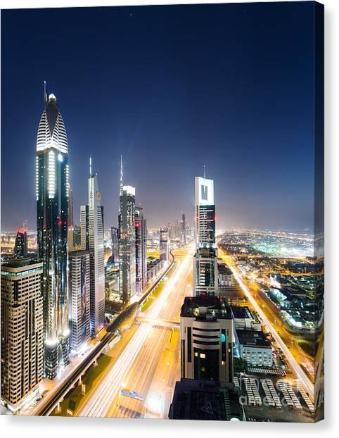 Dubai Skyline Canvas Print - Downtown Dubai by Matteo Colombo