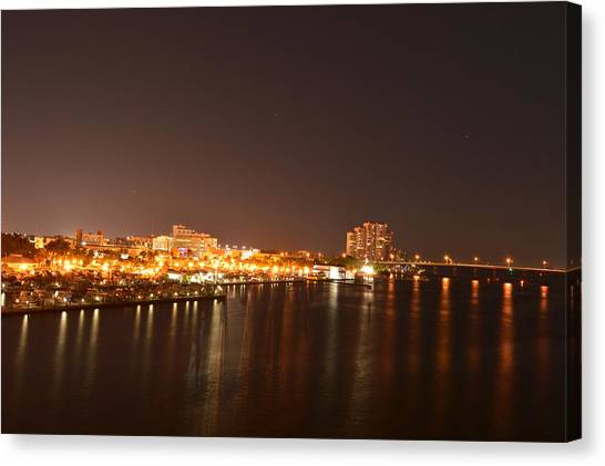 Harbors Canvas Print - Downtown Fort Myers Florida by Doug Grey