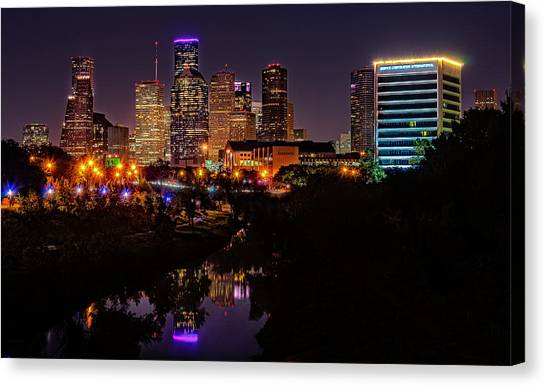 Downtown Houston Canvas Print