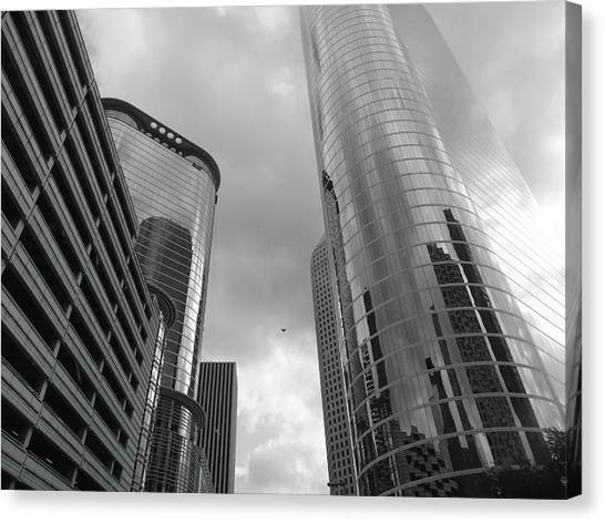 Decision Canvas Print - Downtown Houston by Dan Sproul