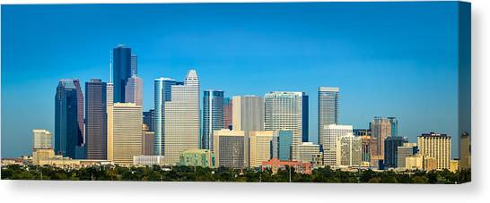 Houston Astros Canvas Print - Downtown Houston Daytime by David Morefield