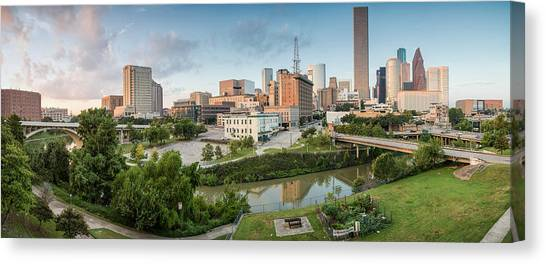 Aac Canvas Print - Downtown Houston From Uh-d. September by Silvio Ligutti