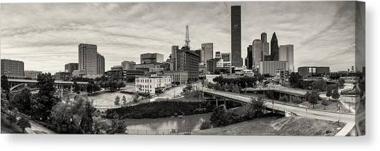 Aac Canvas Print - Downtown Houston From Uh-d by Silvio Ligutti