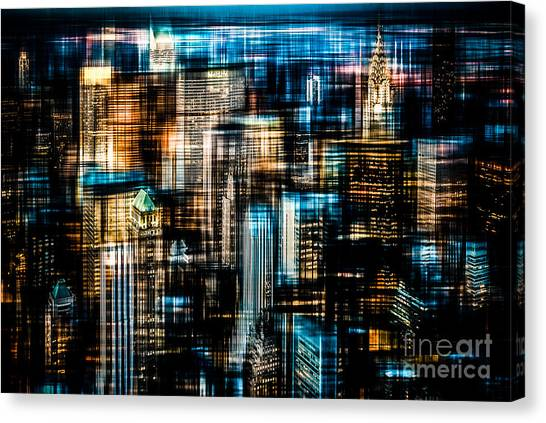 Downtown II - Dark Canvas Print