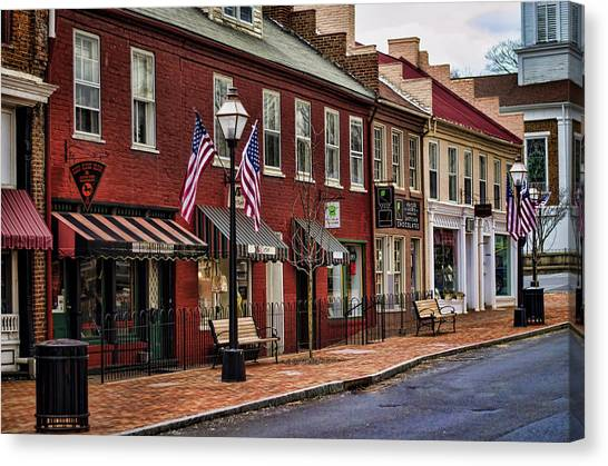 Downtown Jonesborough Tn Canvas Print
